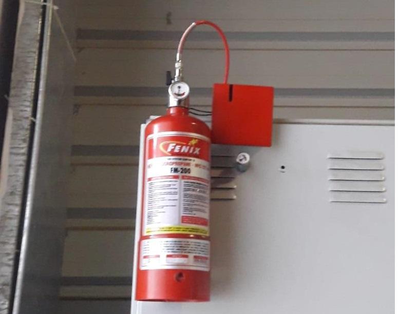 Pano içi gazlı yangın söndürme sistemi